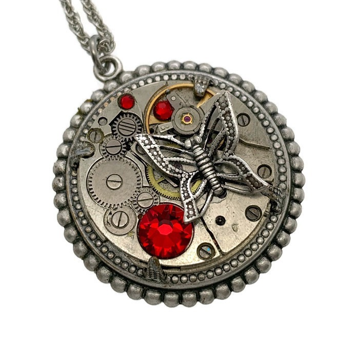 butterfly-necklace-red