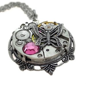 Filigree Steampunk Butterfly Necklace