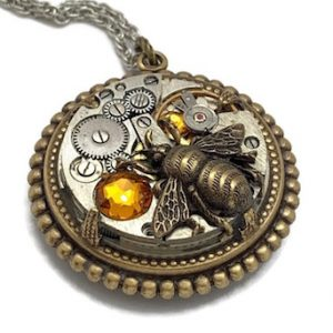 Steampunk Bee Pendant