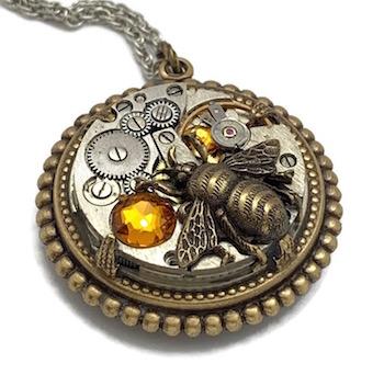 Steampunk Bee Pendant