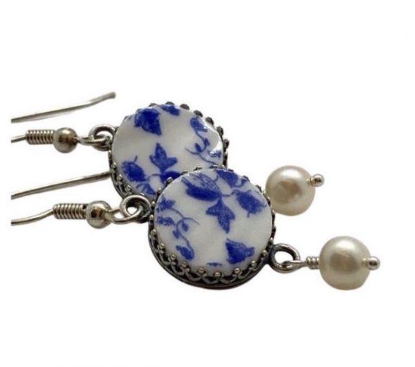 Dainty Blue Earrings