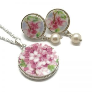 Blossom Time Earrings and Pendant