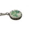 Dainty Broken China Shamrock Necklace