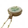 Belleek-shamrock-pendant